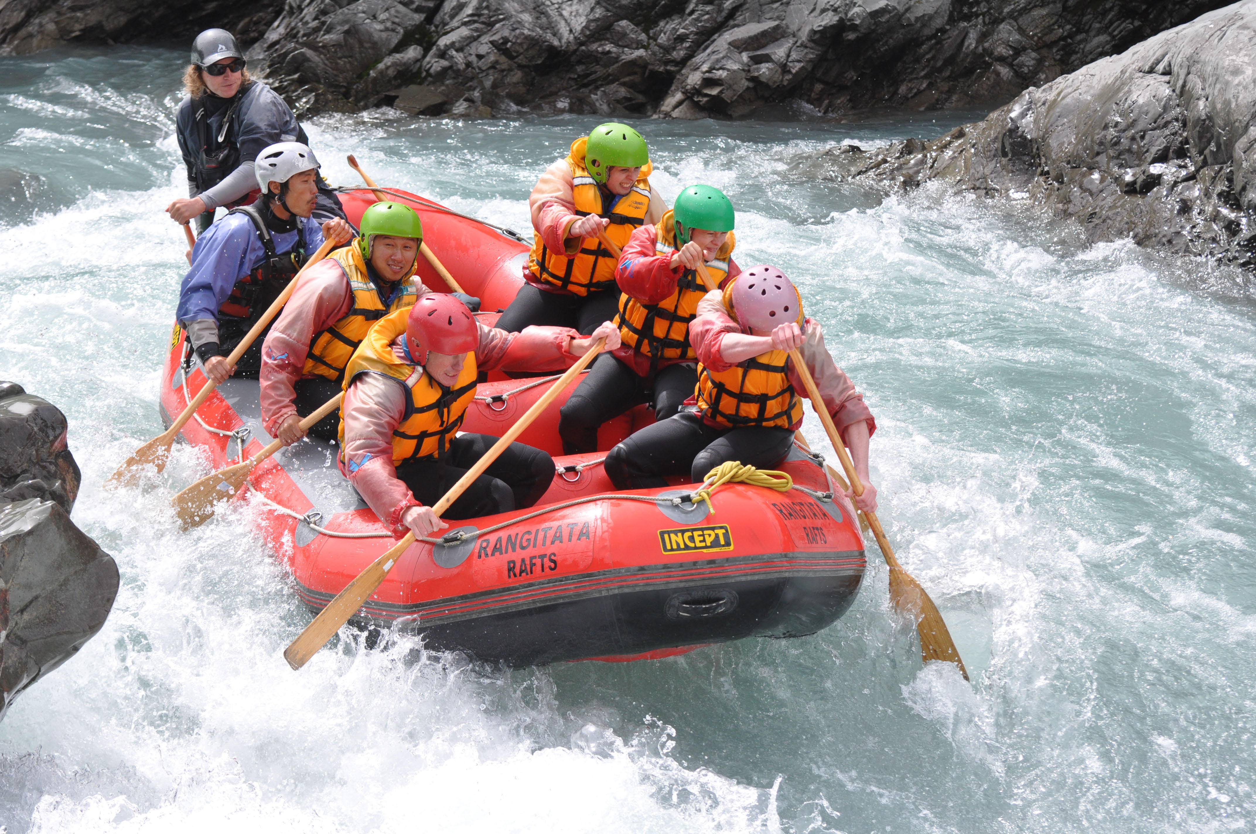 man overboard whitewater rafting on the rangitata river. Black Bedroom Furniture Sets. Home Design Ideas